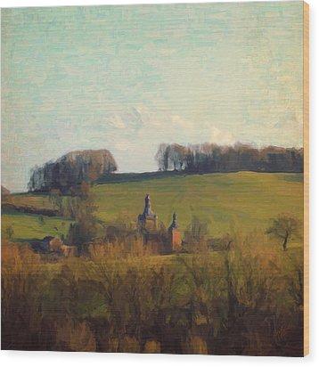 Beusdael Castle Wood Print by Nop Briex