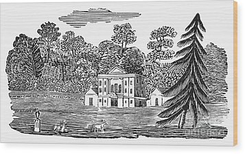 Bewick: Landscape Wood Print by Granger