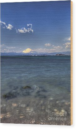 Wood Print featuring the photograph Beyond Sea by Tad Kanazaki