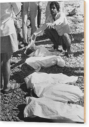 Bhopal Disaster Victims, India, 1984 Wood Print by Ria Novosti