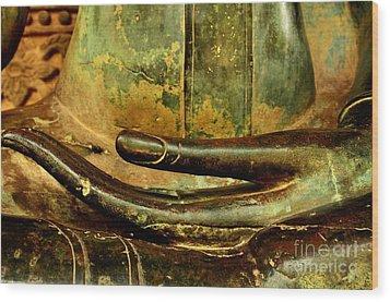 Bhumisparsa Mudra IIi In Colour Wood Print by Dean Harte