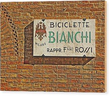 Biciclette Bianchi Wood Print