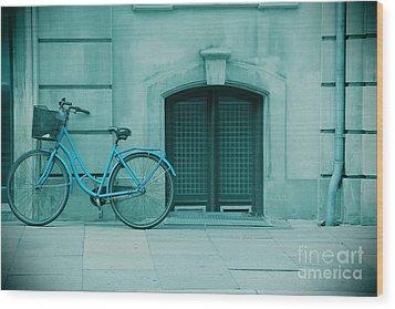 Bicycle Blues Wood Print by Sophie Vigneault