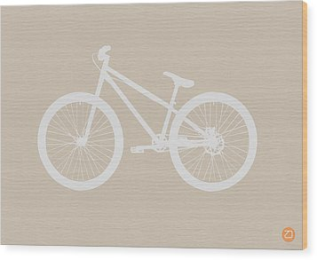 Bicycle Brown Poster Wood Print by Naxart Studio