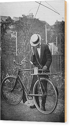 Bicycle Radio Antenna, 1914 Wood Print by