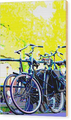 Bicycles Wood Print