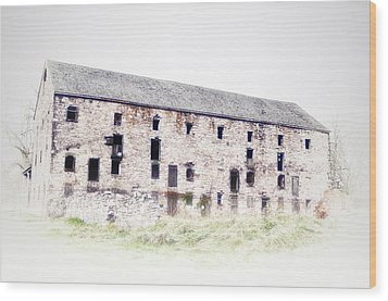 Big Ass Barn Wood Print by Bill Cannon