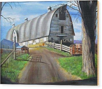 Big Barn At Kripplebush Wood Print by Oz Freedgood