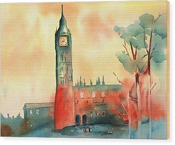 Big Ben    Elizabeth Tower Wood Print by Sharon Mick