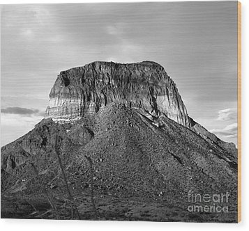 Big Bend Mesa Wood Print
