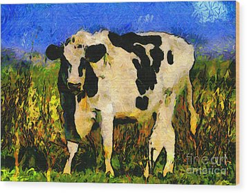 Big Bull 2 . 7d12437 Wood Print by Wingsdomain Art and Photography
