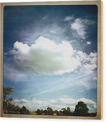 Wood Print featuring the photograph Big Cloud by Paul Cutright