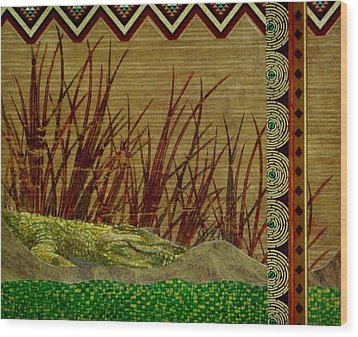 Big Croc Wood Print by David Raderstorf