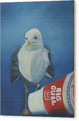Big Gull Wood Print by Amy Reisland-Speer