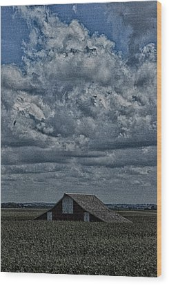 Wood Print featuring the photograph Big Illinois Sky by Kimberleigh Ladd
