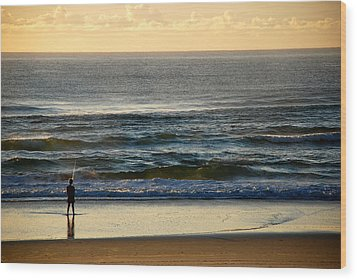 Wood Print featuring the photograph Big Ocean  by Eric Tressler
