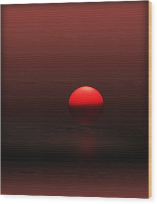 Wood Print featuring the photograph Big Red Ball by Deborah Smith