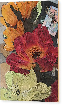 Big Red Wood Print by Bob Whitt