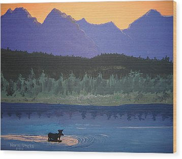 Wood Print featuring the painting Big Sky Country by Norm Starks