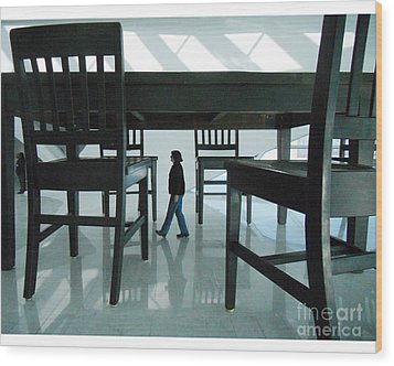 Big Table And Chairs Wood Print by Jim Wright