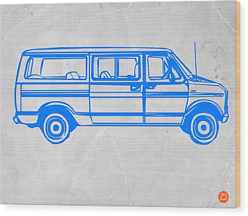 Big Van Wood Print by Naxart Studio