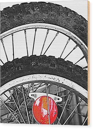 Big Wheels Keep On Turning Wood Print by Empty Wall