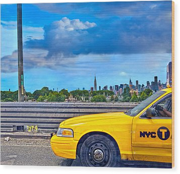 Wood Print featuring the photograph Big Yellow Taxi by Marianne Campolongo