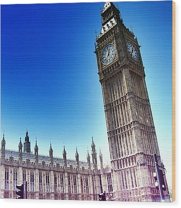 #bigben #uk #england #london2012 Wood Print by Abdelrahman Alawwad