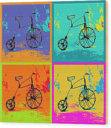Bike 1b Wood Print by Mauro Celotti