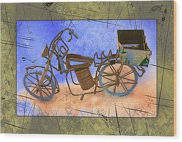 Bike 2a Wood Print by Mauro Celotti