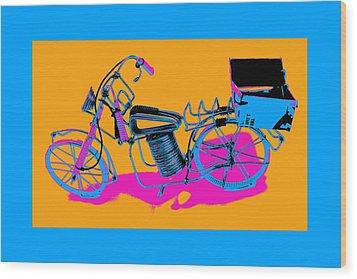 Bike-2c Wood Print by Mauro Celotti