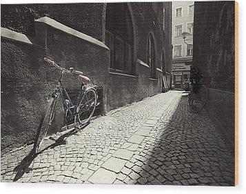 Bike Wood Print by Mark Wagoner