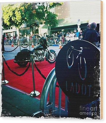 Bike Parking Wood Print by Nina Prommer