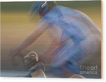Bike Race 2 Wood Print by Catherine Lau