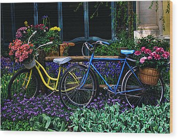 Wood Print featuring the photograph Bike Ride by Tammy Espino