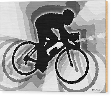 Bike Wood Print by Stephen Younts