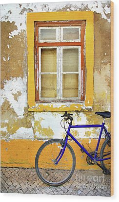 Bike Window Wood Print by Carlos Caetano