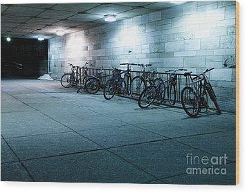 Bikes Wood Print by Igor Kislev