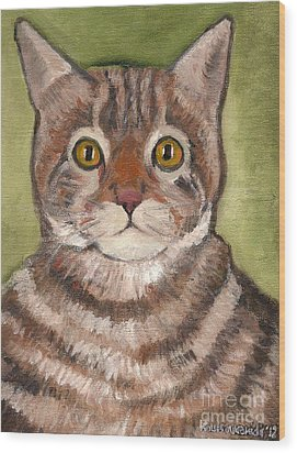 Bill The Cat  Wood Print by Kostas Koutsoukanidis