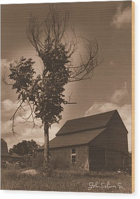 Bills' Barn Wood Print