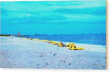 Biloxi Beach Wood Print by Scott Crump