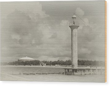 Biloxi Lighthouse Wood Print by James Corley