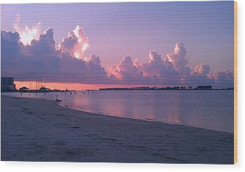 Wood Print featuring the photograph Biloxi Sunrise by Brian Wright