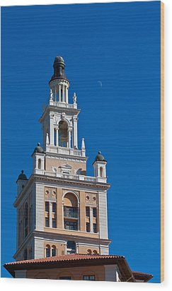 Wood Print featuring the photograph Coral Gables Biltmore Hotel Tower by Ed Gleichman