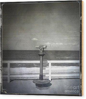 Binocular Wood Print by Bernard Jaubert