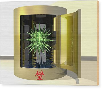 Biohazard Virus Wood Print by Laguna Design