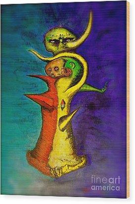 Biohazard  Voodoo Wood Print by Raul Morales