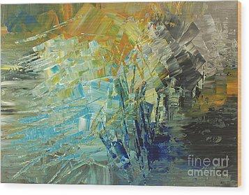 Wood Print featuring the painting Biosphere 2 by Tatiana Iliina