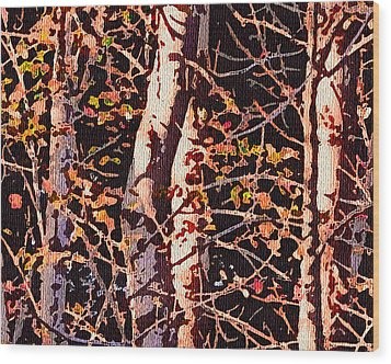Birch Tapestry Wood Print