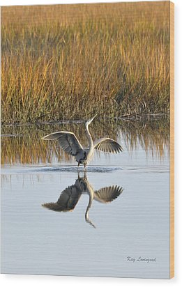 Wood Print featuring the photograph Bird Dance by Kay Lovingood
